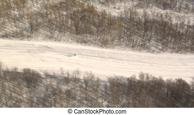 aerial shot of skier