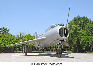 retired air force plane in China