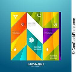 Infographic banner design elements, numbered lists -...
