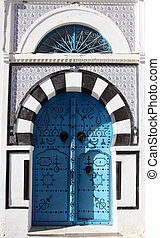 Traditional door from Sidi Bou Said, Tunisia