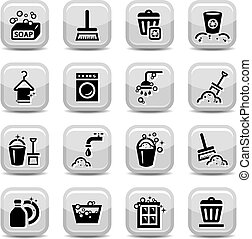 cleaning icons set - Cleaning Icons Set for web. All...