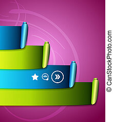 Colorful scroll ribbons infographic design - Vector...