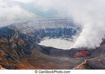 Active Costa Rican Volcano Poas - Photograph of the active...