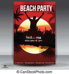 Summer Beach Sunset  Party Flyer
