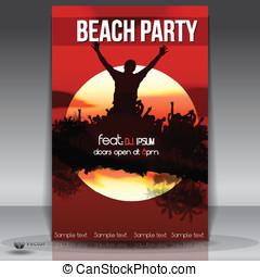 Summer Beach Sunset  Party Flyer