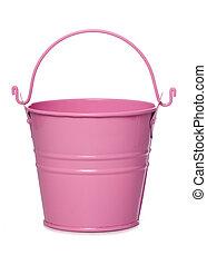 pink metal bucket cutout - pink metal bucket studio cutout