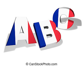 Abc French School Concept - French language school and...