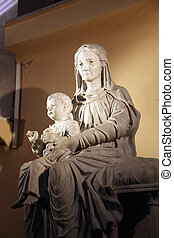 Virgin Mary with baby Jesus in the Cathedral of St Vincent...