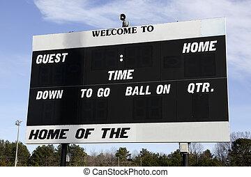 Scoreboard - football scoreboard
