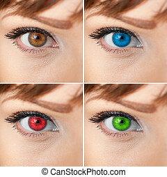 Beautiful woman eye collage