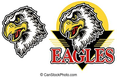 eagle head with logo