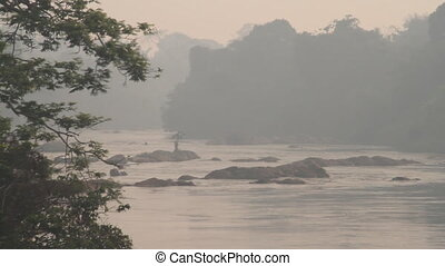 jungle river with haze