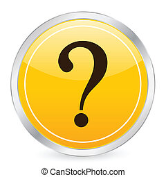 interrogative mark yellow circle icon - Interrogative mark...