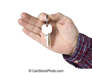 house keys - House keys holding by the human hand