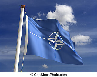Nato Flag - Nato flag (with clipping path)