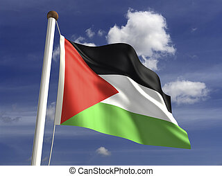 Palestine Flag - Palestine flag with clipping path