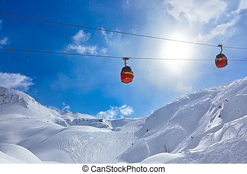 Mountains ski resort Kaprun Austria - nature and sport...