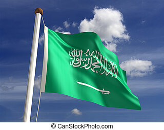 Saudi Arabia Flag - Saudi Arabia flag (with clipping path)