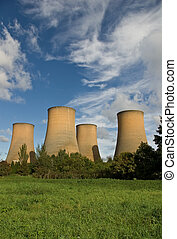 Cooling towers - The cooling towers of a power station...