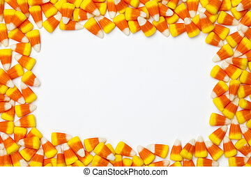 image of arranged candy corns - Close-up shot of arranged...