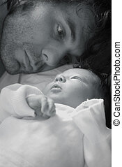 Father and baby - A baby with its daddy