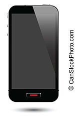 smartphone with screen - vector illustration of touch screen...