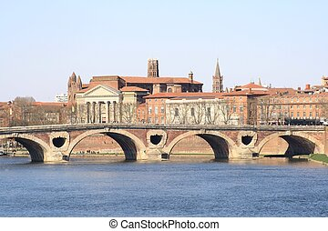 Toulouse cityscape - View Toulouse in France .
