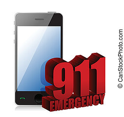 Emergency Phone illustration design over a white background