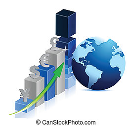 world business graph illustration design
