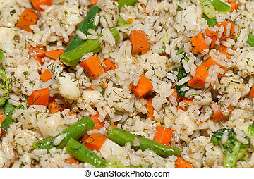 the healthy diet - brown rice with vegetable