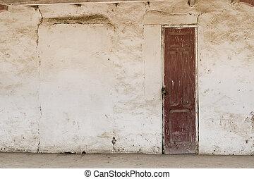 Old door - Old Door in weathered wall