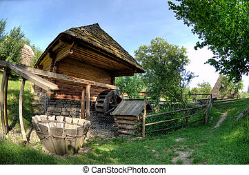 old wooden house, a museum Uzhhorod Ukraine