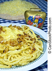 Cheese noodles of the German Allgaeu