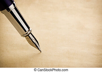 ink pen and parchment background