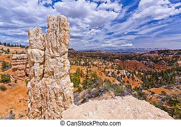 Eroded Sandstone Hoodoo - Eroded sandstone forms hoodoos or...