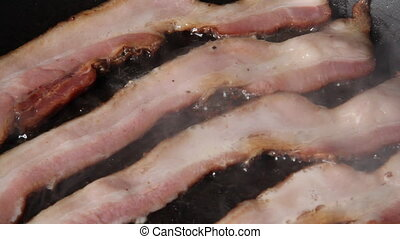 bacon frying