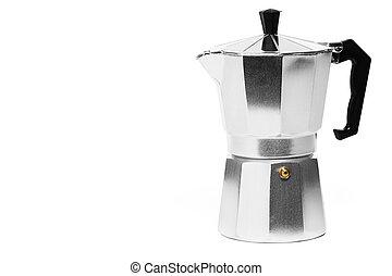 metal, espresso, café, fabricante, blanco, Plano de fondo