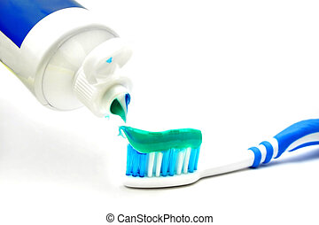 Tooth Paste On Brush