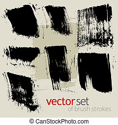 Vector  brush strokes, set 1 - Vector set of  brush strokes