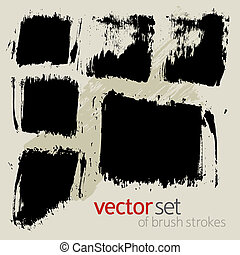 Vector  brush strokes, set 2 - Vector set of  brush strokes