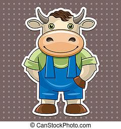 %u0421artoon cute bull