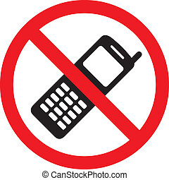 No phone sign, vector illustration