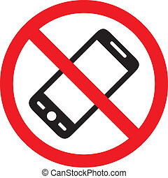 No phone vector sign, illustration