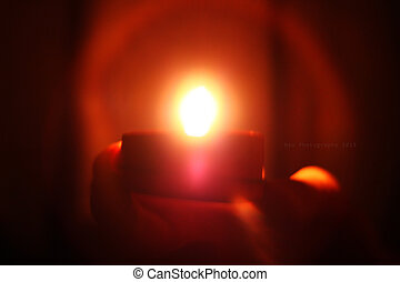 hope - Seeing into small candlelit with our hearts