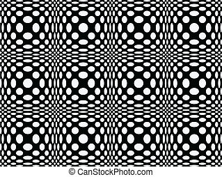 Seamless dotted pattern - Black and white seamless pattern...