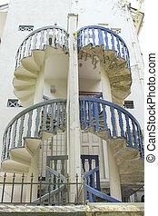 Peranakan House Staircase - Historic Peranakan House Behind...