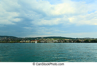 The Lake Zurich in Zurich City