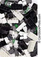 lego background - Macro image of pieces of Lego blocks