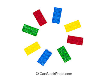 lego circular pattern - Illustration of circular pattern...