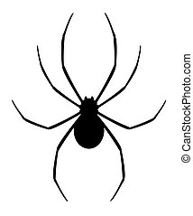 Black spider - Design of vector black spider